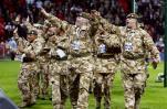 图文-[欧预赛]英格兰vs克罗地亚英国大兵调动气氛