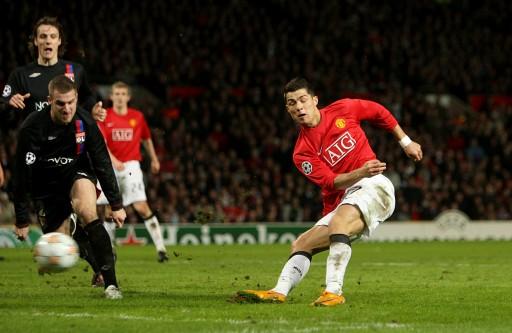 图文-[冠军杯]曼联1比0里昂C罗闭着眼照样进球