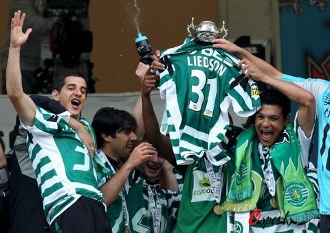 图文-葡萄牙杯里斯本竞技夺冠这一刻又将载入历史