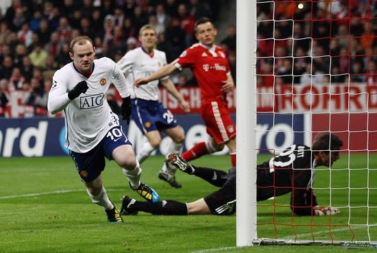 图文-[欧冠]拜仁慕尼黑VS曼联留下对手失望的背影