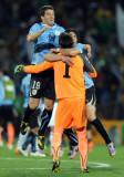乌拉圭队庆胜利