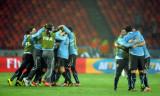 乌拉圭拥抱庆祝