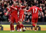 利物浦众将庆祝进球