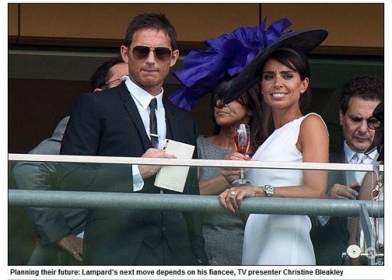 兰帕德与未婚妻克里斯汀