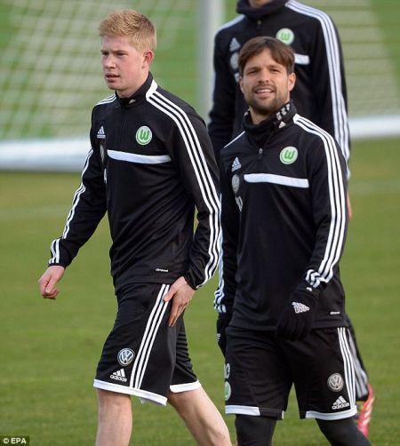 德布劳内会见新队友迭戈-他希望在这争取到去巴西的机票