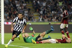 意甲-特维斯绝杀托雷斯首秀AC米兰主场0-1负尤文
