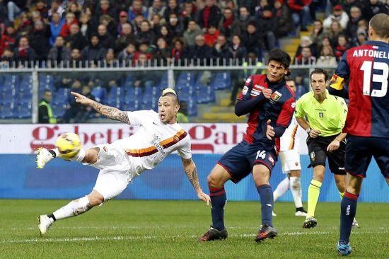 罗马近6个赛季首次客胜热那亚