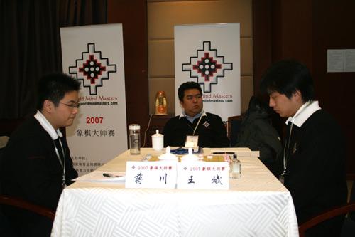 图文-2007象棋大师赛决赛第二局蒋川后手战和王斌