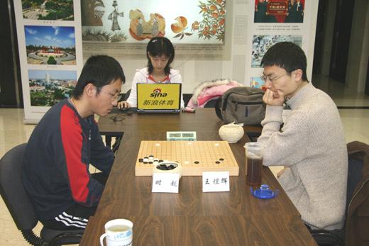 图文-第23届名人战本选赛第2轮时越对阵王煜辉