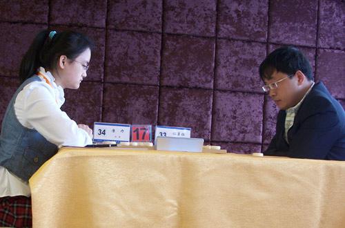 图文-伊泰杯象棋精英赛首轮唐丹遭遇孙勇征