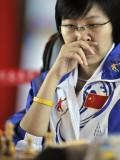 铜牌得主黄茜在比赛中