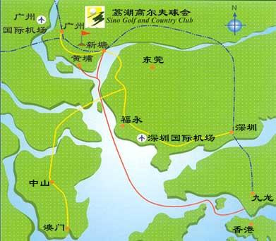广东-荔湖高尔夫球会位置图