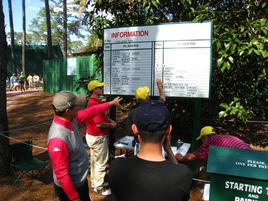 观察球员分组表及出发时间