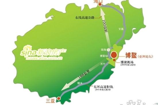 博鳌山钦湾高尔夫球场地理位置