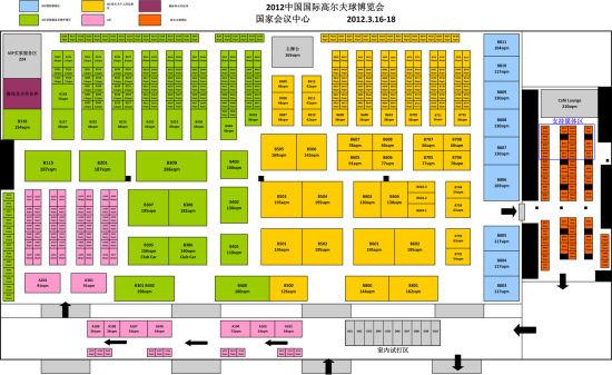 2012中国高博会展位一览