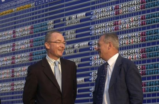 两位沃尔沃中国公开赛的开创者(左为派亚特)