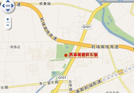北京尼克劳斯高尔夫俱乐部位置图示