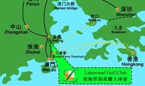 珠海翠湖高尔夫球会位置图示