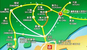 广东阳江涛景高尔夫俱乐部位置图示