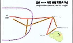 广东东莞海逸高尔夫球会位置图示