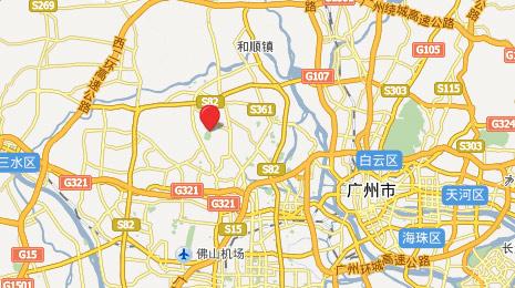 广东南海桃园高尔夫俱乐部位置图示