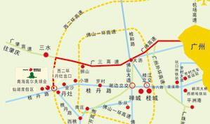广东紫云山高尔夫乡村俱乐部位置图示