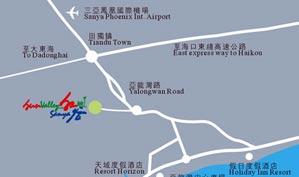 三亚亚龙湾红峡谷高尔夫俱乐部位置图示