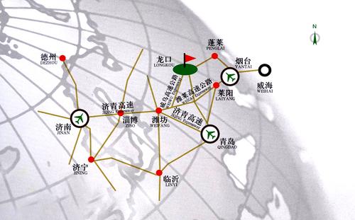 山东南山国际高尔夫俱乐部位置图示