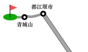四川青城山高尔夫俱乐部位置图示