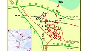 浙江湖州温泉高尔夫俱乐部位置图示