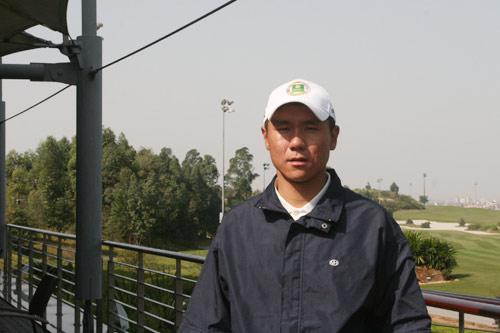 图文-中国业余公开赛首轮战况国家队选手霍伟