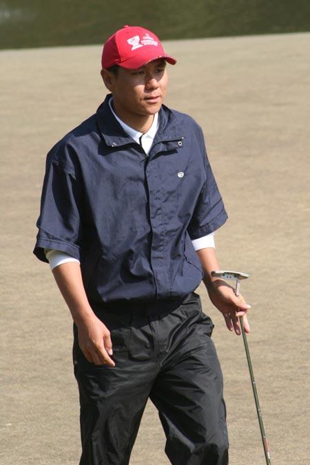 图文-中国业余公开赛第三轮国家队选手霍伟