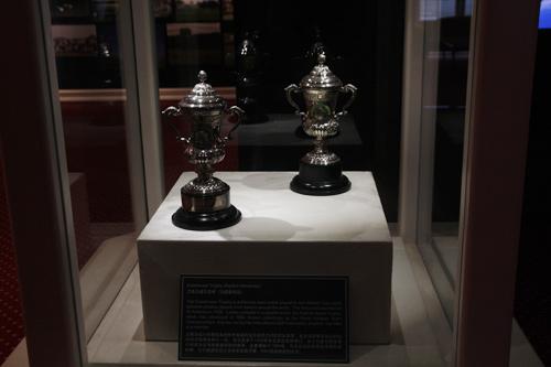 图文-圣安德鲁斯高尔夫文化展赛事冠军奖杯复制品
