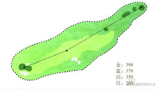 图文-广州仙村国际高尔夫球会第一号洞