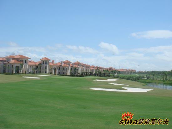 球场-通州别墅滩棕榈高尔夫俱乐部图文边的别上海北京土桥海景图片