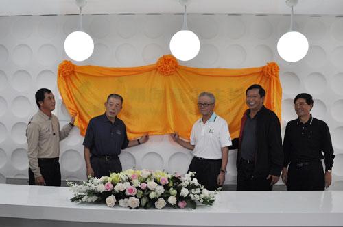 图文-朝向高尔夫学院成立朝向学院揭牌仪式
