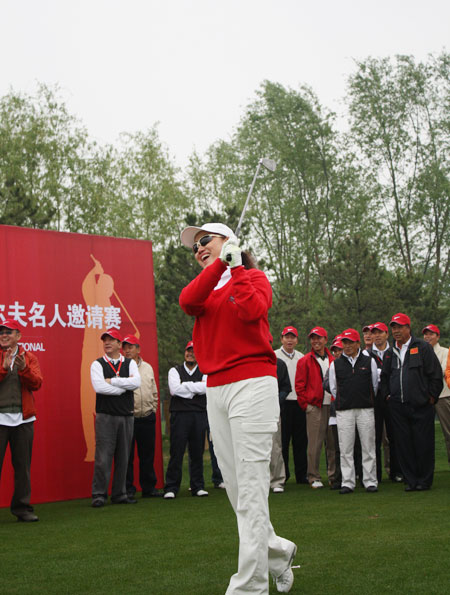 图文-郎酒红花郎杯高尔夫名人赛巴特菲传媒董事长宋杨
