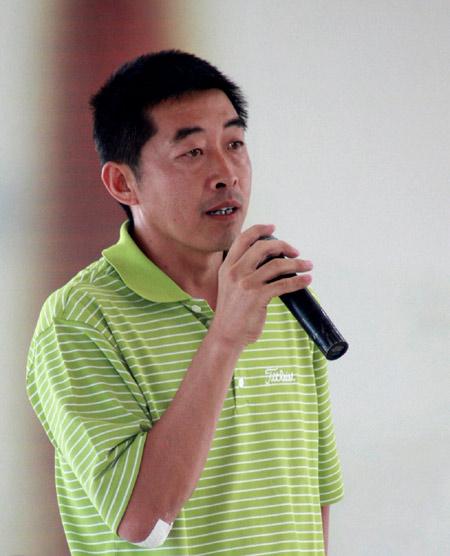 图文-Monday高尔夫训练赛移师北京程军致辞