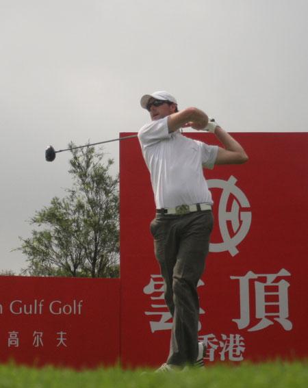 图文-职业锦标赛珠海站第二轮库特卡尔森开球