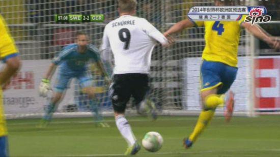 进球视频-瑞典队后卫失误 许尔勒一条龙暴走破门