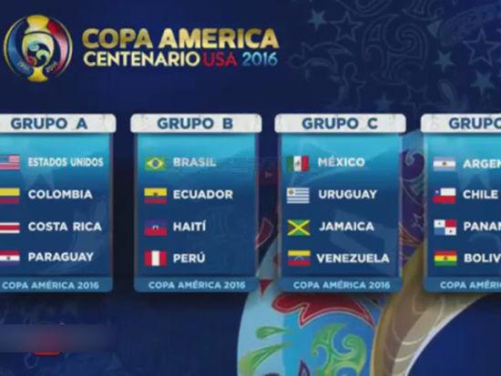 美洲杯抽签阿根廷遇智利