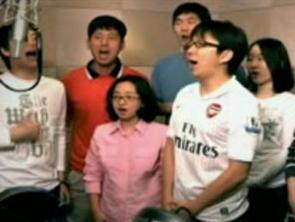 视频-韩国围棋队唱啦啦歌鼓劲 李昌镐等名将秀歌喉