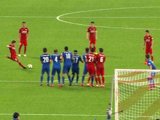 进球视频-柏佳俊飞铲染红 孔卡任意球斩赛季首球