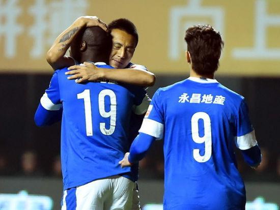 视频集锦-外援送点毛剑卿幸运锁胜 石家庄2-0重庆