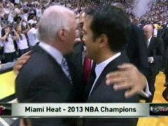 NBA视频-波帅大度拥抱斯波 球迷欢呼全场沸腾