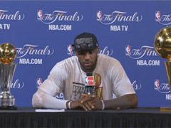 NBA视频-詹皇夺冠发布会:最艰难的冠军 韦德太关键
