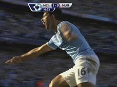 进球视频-纳斯里脚后跟造势 阿圭罗凌空勾射破曼联