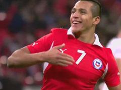 进球视频-智利抢断反击 桑切斯单刀挑射双响