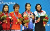 女子散打52公斤级鄂美蝶夺冠