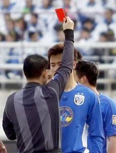 曹添堡补射致胜于涛红牌离场长春主场1比0胜上海